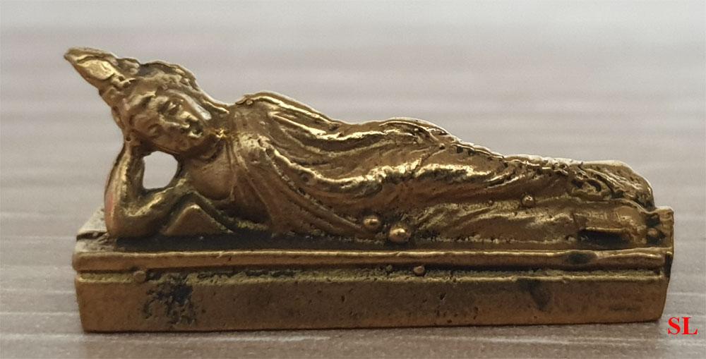Miniature-en-laiton-Bouddha-boudha-couche-Zen