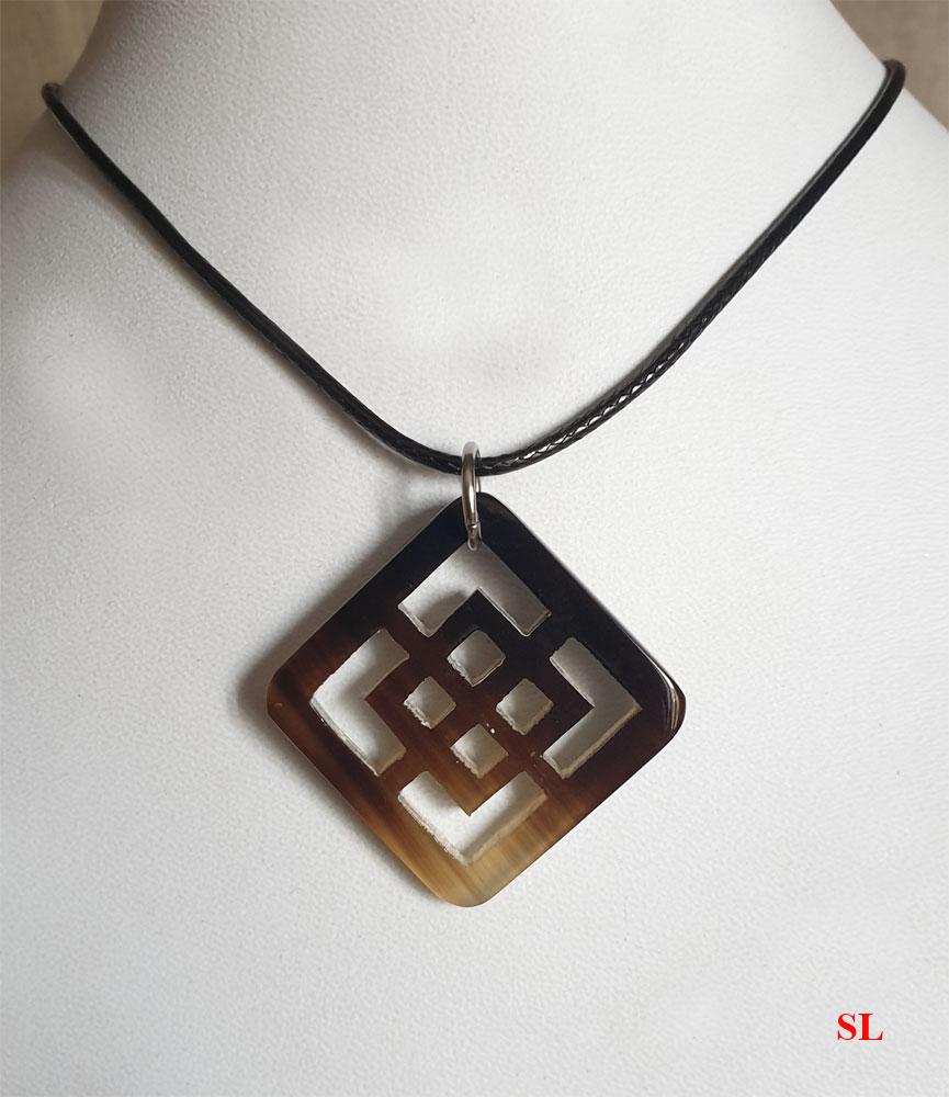 Symbole la JOIE collier pendentif en matière naturelle chinois 3cm