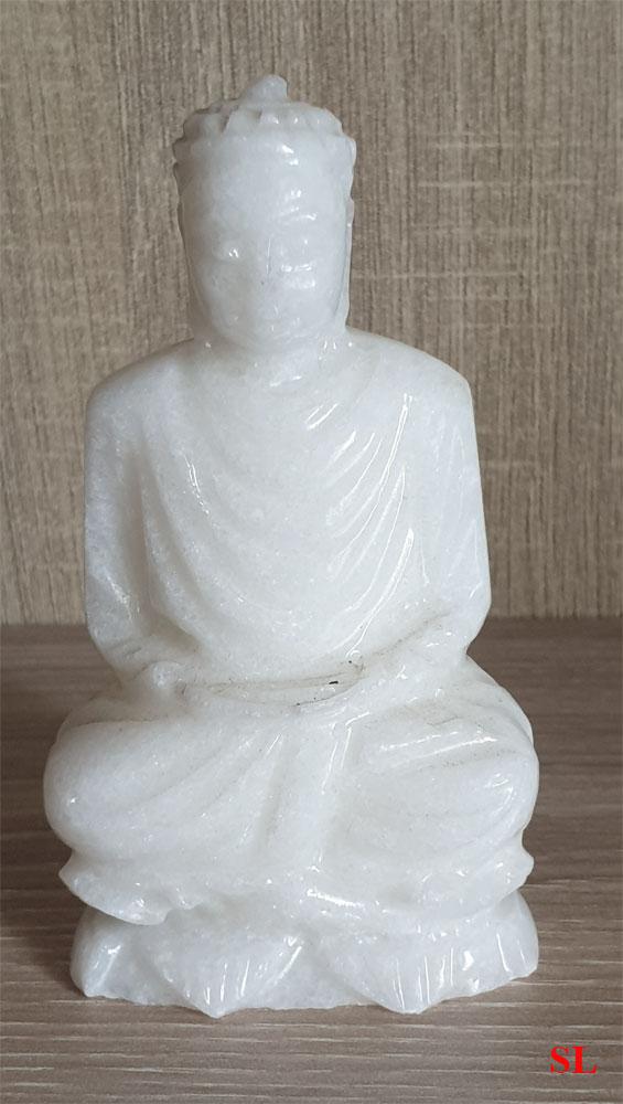 Statuette-Bouddha-Boudha-Zen-Meditation-en-Pierre-Marbre-Blanc