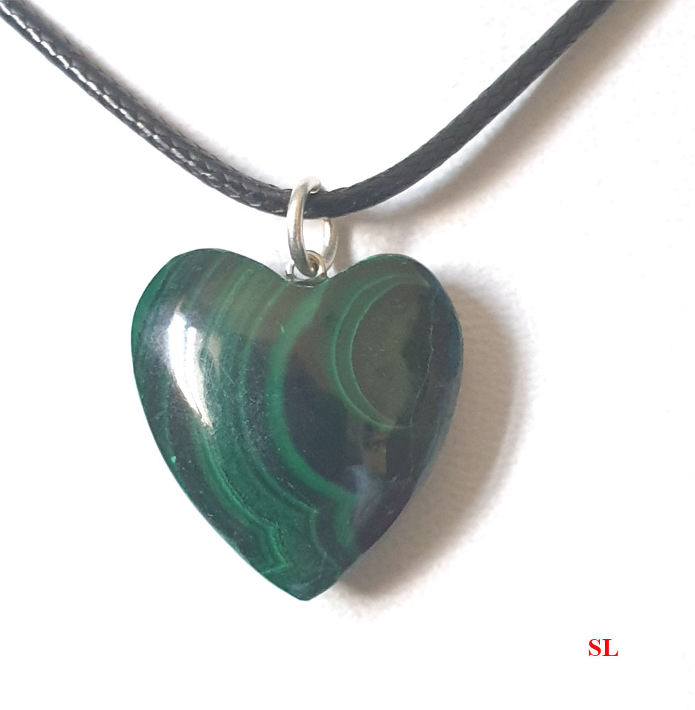 Collier-Pendentif-Malachite-COEUR-2X2-CM-3-fonce-pierre-naturelle-Litho--Reiki