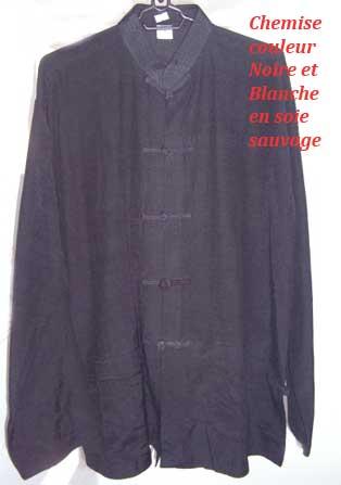 Chemise-col-Mao--en-soie-couleur-Creme-manche-longue
