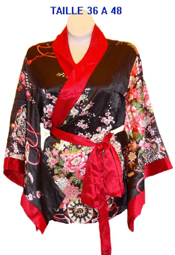 Haut-Japon-Noir-rouge-en-soie